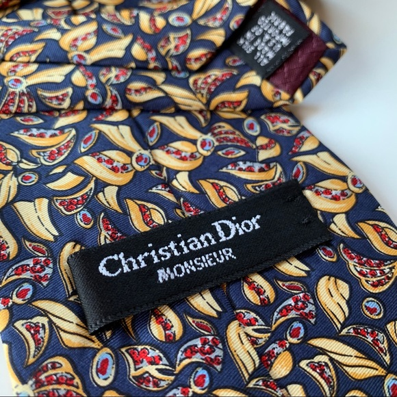 Dior Other - Christian Dior Monsieur Blue Pattern Mens Tie